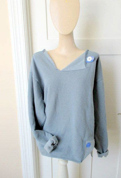 fun altered sweatshirt idea sewing pinterest grey