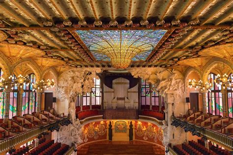 palau de la musica catalana barcelona spain performance review conde nast traveler