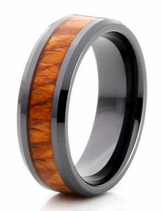 men39s ring maui the incredible koa wood inlayed in this With maui wedding rings