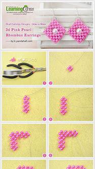 Pearl Earrings Designs -How to Make 3d Pink Pearl Rhombus ...