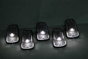 5pc 11516638 Cab Clearance Marker Light Clear 6