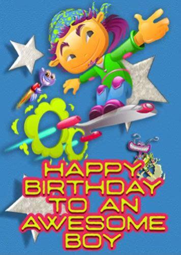 happy birthday  awesome boy aliens   kids ecards