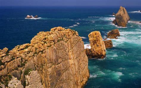 hd rugged sea coast cantabria spain wallpaper