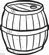 Barrel Cartoon Wooden Clipart Keg Drawn Vector Hand Alcohol Clip Illustration Beer Wood Cliparts Sketch Antique Coloring Craft Background Clipartmag sketch template
