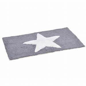 tapis de bain etoile gris tapis salle de bain eminza With tapis bain gris