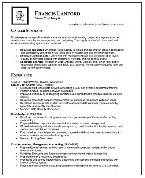 Sle Resume For Quality Analyst by Resume Cover Letter Resume Cover Letter Cabin Crew