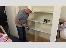 Building Wardrobe Shelves DIY, Ensuite YouTube