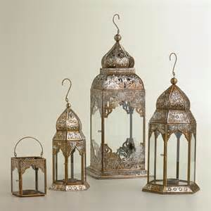 lucia silver leaf lanterns mediterranean candleholders by cost plus world market