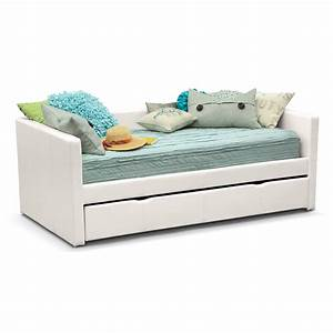Carey Twin Daybed with Trundle - White Value City Furniture