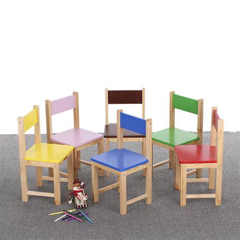 chaise colorée interougehome chaise colorée en bois pour enfants