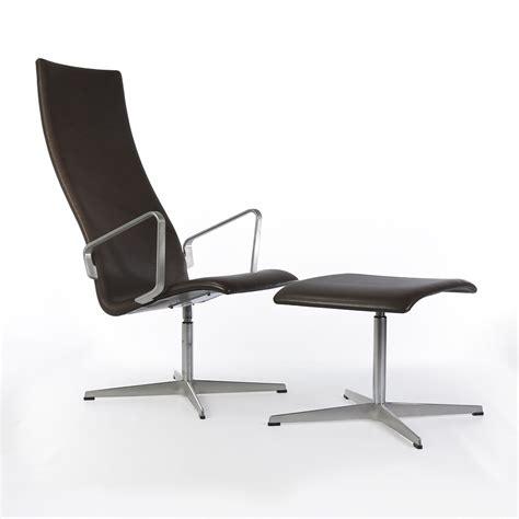 chaise jacobsen original fritz hansen black leather arne jacobsen oxford
