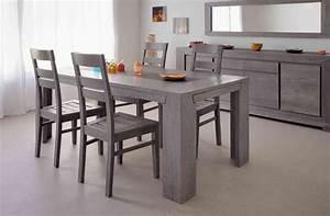 Table De Cuisine Grise : table salle a manger grise table repas ronde objets decoration maison ~ Dode.kayakingforconservation.com Idées de Décoration