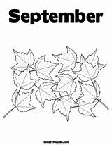 September Coloring Pages Print sketch template