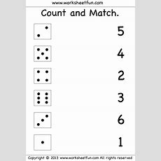Numbers  Count And Match  Free Printable Worksheets  Worksheetfun  Preschool Free