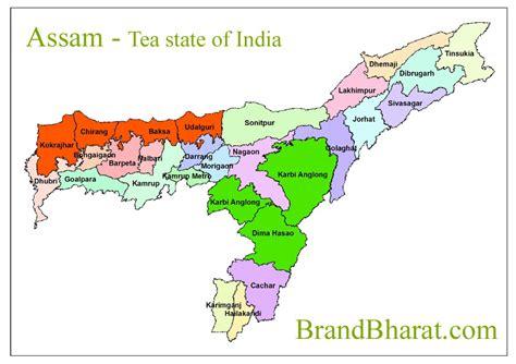 assam districts  assam map political brandbharatcom