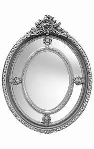 Miroir Baroque Argenté : grand miroir baroque ovale argent de style louis xvi ~ Teatrodelosmanantiales.com Idées de Décoration
