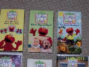 Sesame Street Elmo World VHS Lot