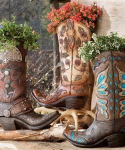 cowboy boot vases western cowboy decor