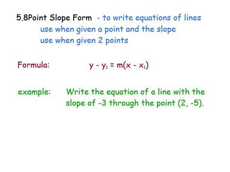 Similiar Using Point Slope Formula Keywords