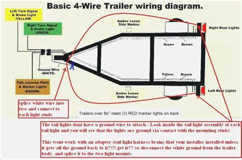 utility trailer wiring diagram harbor freight haul master four way jerps trailer wiring
