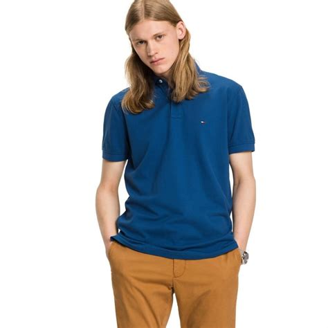 Polos Blue  Tommy Hilfiger Regular Fit Luxury Pique Polo
