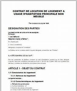 contrat de bail location non meublee newsindoco With contrat de bail location non meublee