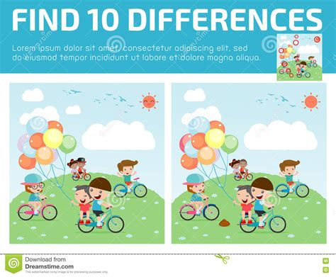 find differences for find differences brain 173 | find differences game kids find differences brain games children game educational preschool vector 73233701