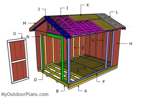 10x14 gable shed roof plans myoutdoorplans free