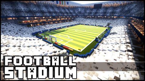 minecraft football stadium  euro  youtube