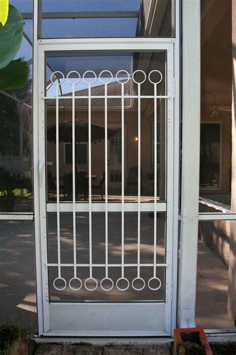 screen door grill on screen door grille decorative protective