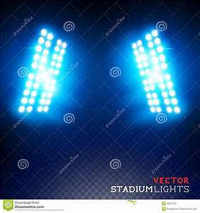 Vector stadium floodlights stock image