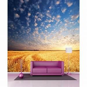 Papier Peint Geant : papier peint g ant champs de bl 11092 stickers muraux deco ~ Premium-room.com Idées de Décoration
