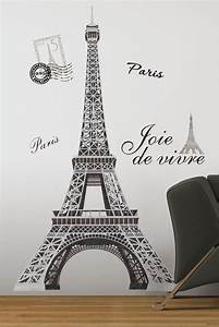 eiffel tower giant 56quot removable wall decals mural paris With paris wall decor