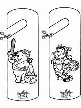 Halloween Coloring Pages Door Hangers Pooh Winnie Doorhanger Sheets Advertisement sketch template