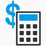 Icon Calculator Clipart Accounting Change Calculate Technology
