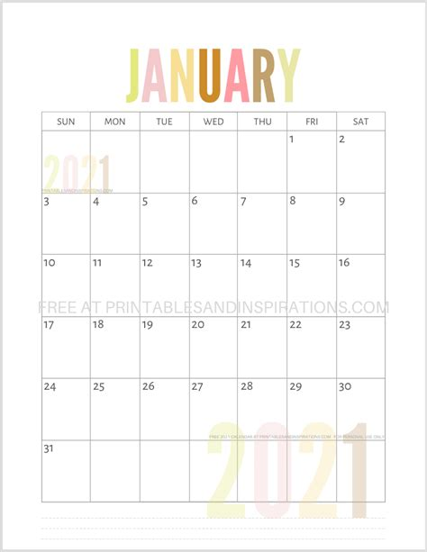 2021 printable calendars, yearly, half year or monthly templates, free to download and print, in image, pdf or excel format. Pin en Arte
