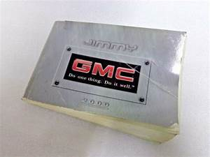 2000 Gmc Jimmy Owners Manual User Guide Oem  10e