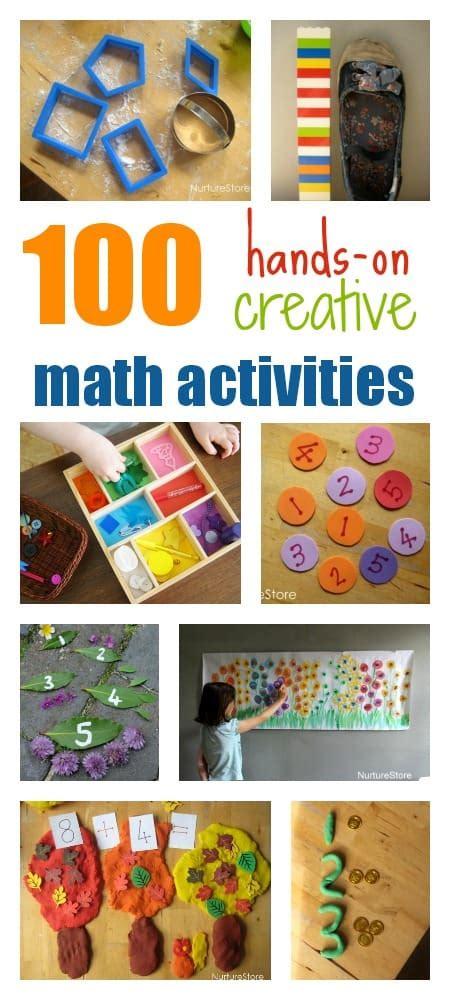100 on creative math activities for nurturestore 574 | math activities for kids