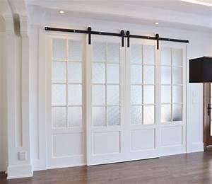 Porte A Galandage Double : rail coulissant double porte porte coulissante entree ~ Premium-room.com Idées de Décoration