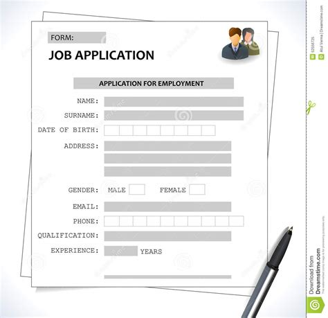 Exle Of Cv For Application by Application Form Combined With Curriculum Vitae