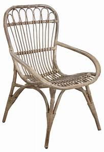 Chaise Rotin Gris : fauteuil en rotin gris ~ Teatrodelosmanantiales.com Idées de Décoration