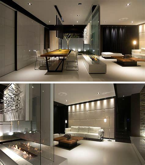 room divider idea  glass wall supports  tv  art