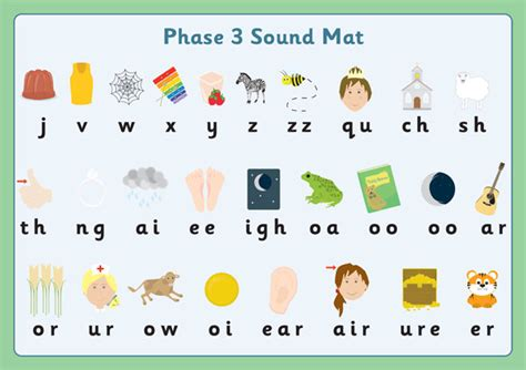 early learning resources phase  sound mats