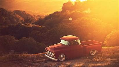 Sunset Classic Truck Chevrolet Matte Cars Pc
