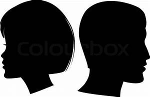 11 Woman Face Silhouette Vector Images - Black and White ...