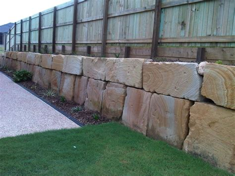 retaining wall fence ideas images