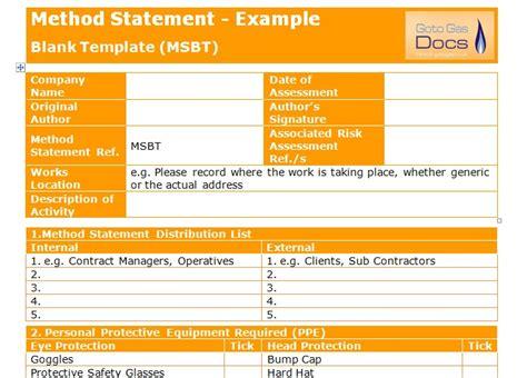 Method Statement Template For Construction - Costumepartyrun