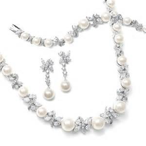 bridesmaid jewlery raquel pearl cz bridal jewelry set glamorous wedding jewelry