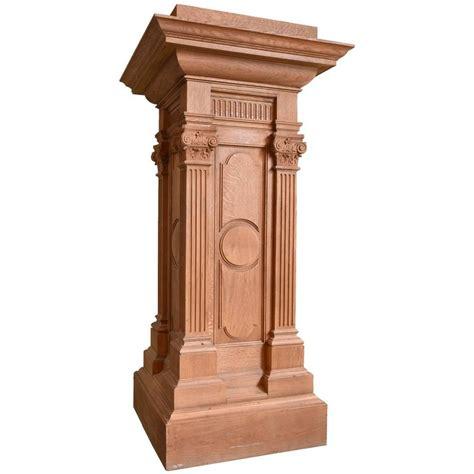 Pedestal Building by Quartersawn Oak Pedestal With Fluted Columns For Sale At