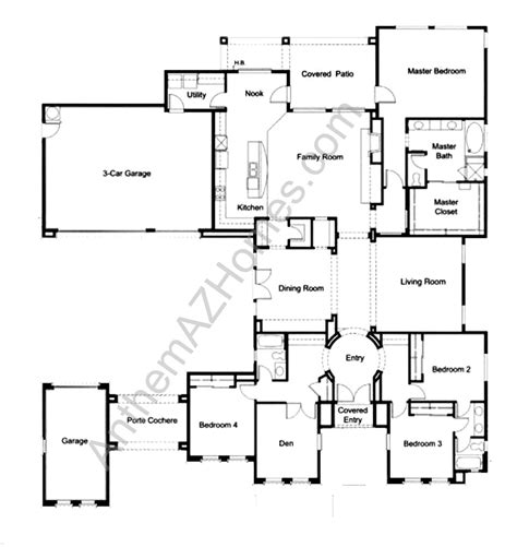 Floor Anthem by Anthem Arizona Home Floor Plans House Design Plans